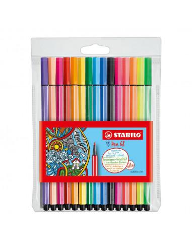 STABILO Pen 68 - 15 kleuren