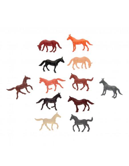Kunststof Paardjes, 12st.