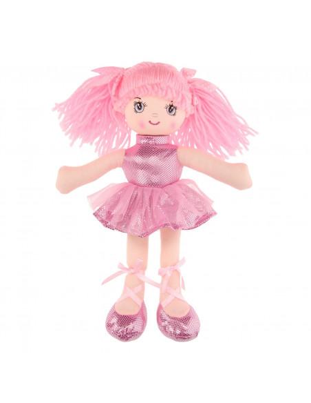 Lappenpop Meisje, 30cm - Lichtroze