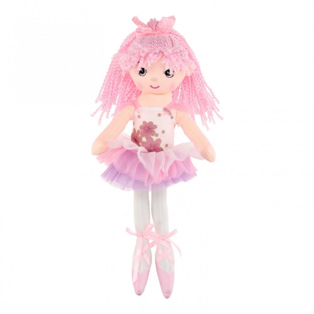 Lappenpop Ballerina, 40cm - Lichtroze