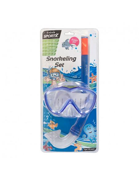 Kinder Snorkelset Blauw