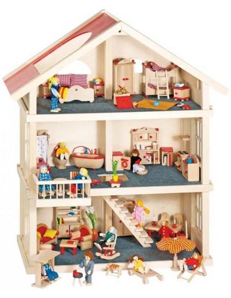 Goki houten poppenhuis XXL