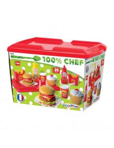 Ecoiffier 100% Chef Hamburgerset, 25dlg.
