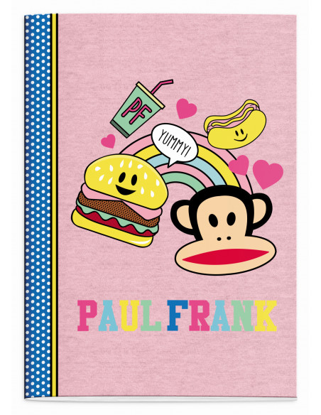 Schrift Paul Frank Girls burger A4 geruit (162PFR215STE)