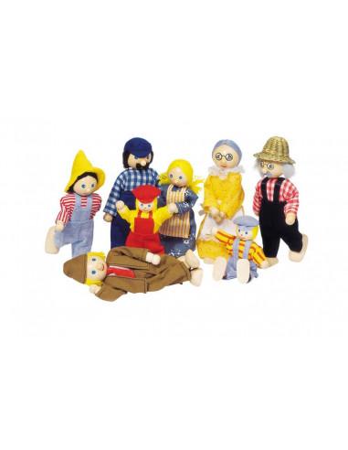 Goki poppenhuispopjes Boeren Familie
