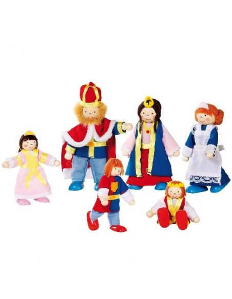 Goki poppenhuispopjes Koningsfamilie