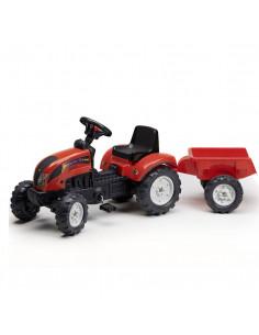 Falk Tractor met Aanhanger Rood