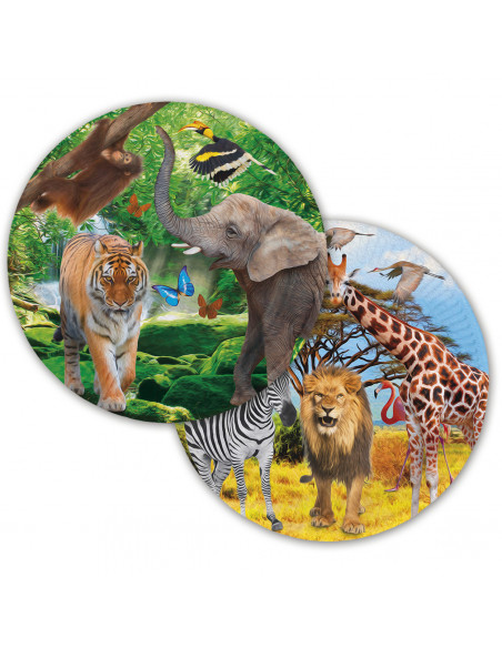 Safari Bordjes, 8st.