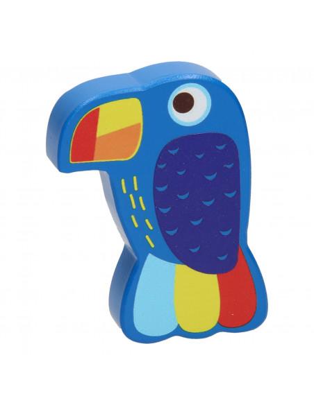 Houten Mini Maracas Tropische Vogel
