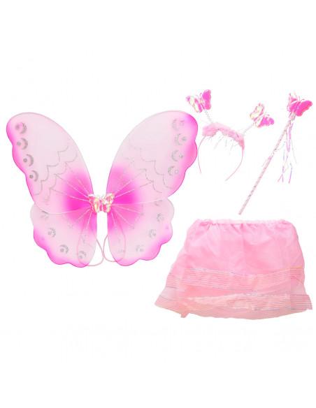 Verkleedset Vlinder Licht Roze
