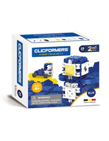 Clicformers Craft Set Blauw, 25dlg.