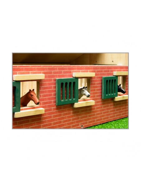Paardenstal Hout Met 9 Paardenboxen 1:32