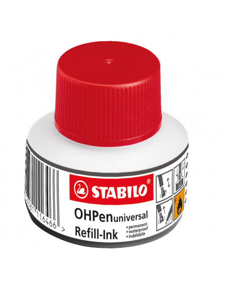 STABILO OHPen Navulflacon Permanent - Rood