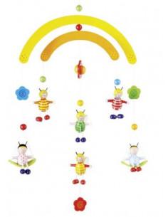 Goki - Houten 3D Mobiel Bijen