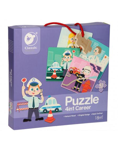 Classic World Houten Puzzel Beroepen, 4in1