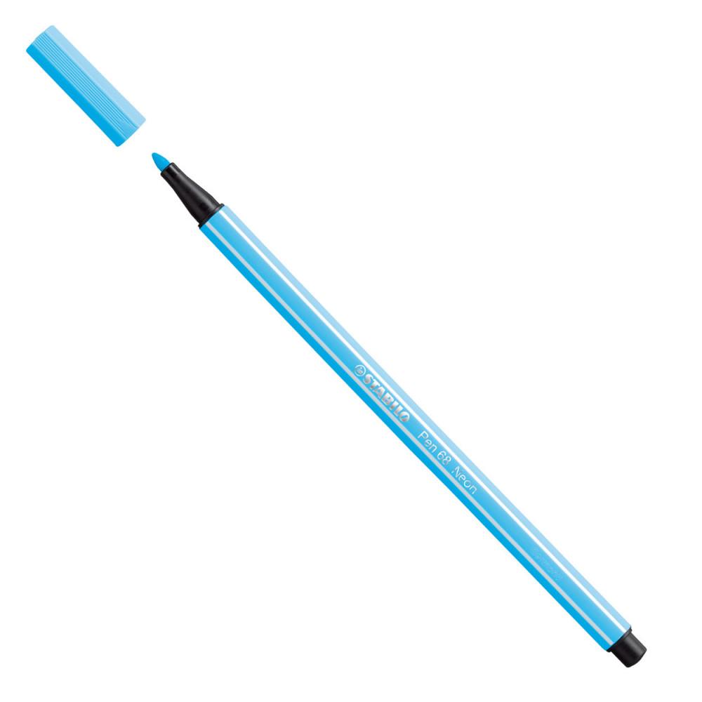 STABILO Viltstift - Fluoriserend Blauw (68/031)