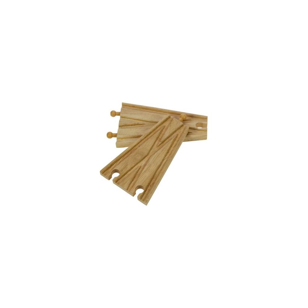BigJigs houten Rails 2-Weg Splitsing (2 stuks)