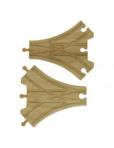 BigJigs houten Rails 3-Weg Splitsing (2 st)