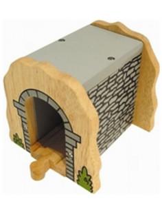 BigJigs houten Tunnel Grijze Steen
