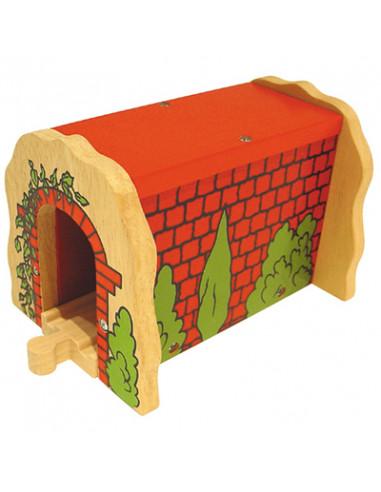 BigJigs houten Tunnel Rode Steen