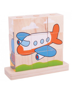 BigJigs houten Stapelpuzzel Transport