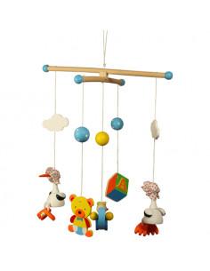 BigJigs houten Mobiel Blue Stork