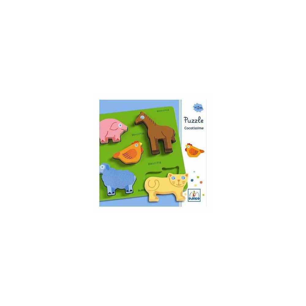 Houten Cocotissime puzzel (5st) – djeco