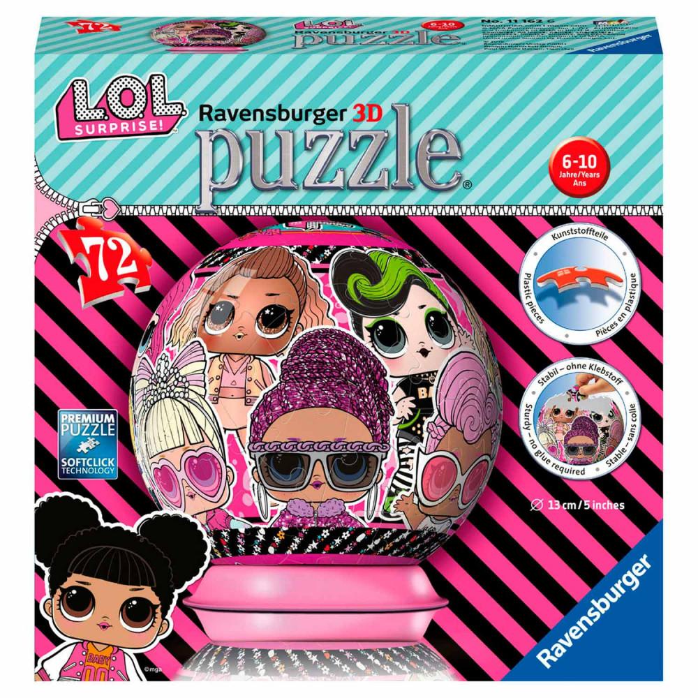 Ravensburger 3D Puzzel - Bal L.O.L. Surprise, 72st.