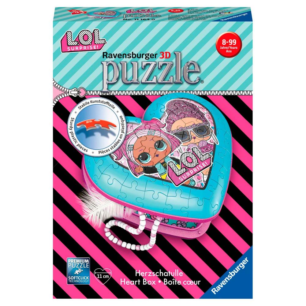 Ravensburger 3D Puzzel - Hartendoosje L.O.L. Surprise