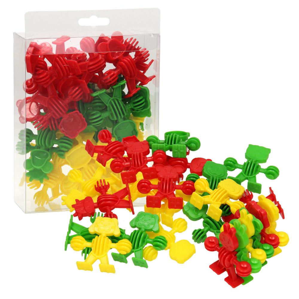 Bouwvormen Dieren - Rood/Groen/Geel, 24dlg.