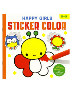 Happy Girls Sticker Color