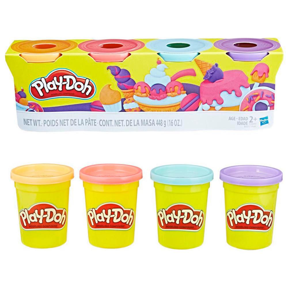 Play-Doh Kleuren Potjes Zoete Kleuren, 4st.