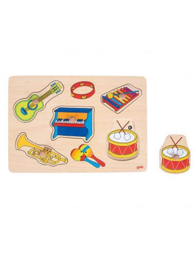 Noppenpuzzel Muziekinstrumenten met...