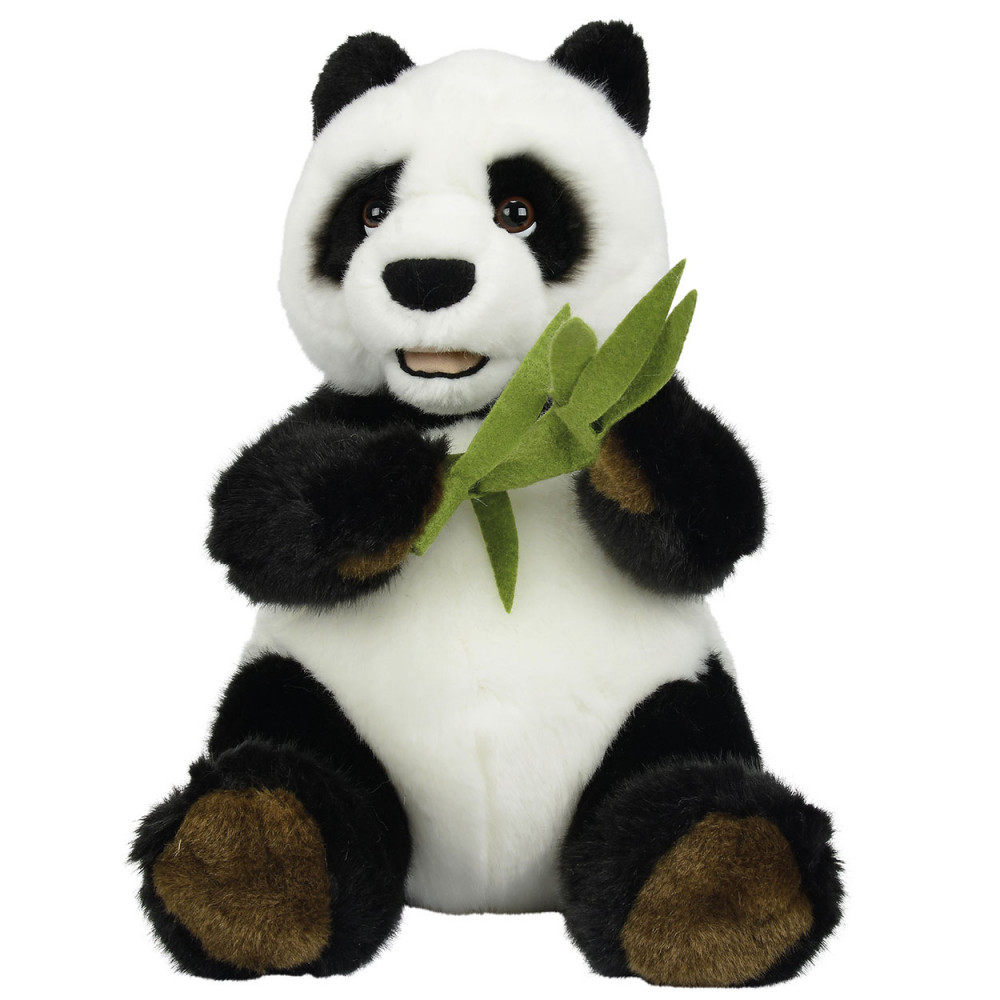 Knuffel Zittende Panda met Bamboe