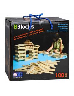 BBlocks Houten bouwplankjes, 100 dlg.