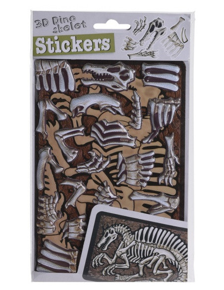 3D-Stickers Skelet - Therizinosuaurus Bruin