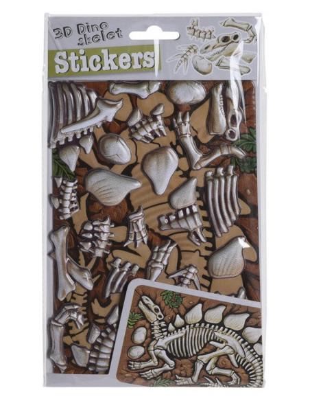 3D-Stickers Skelet - Therizinosuaurs Oranje
