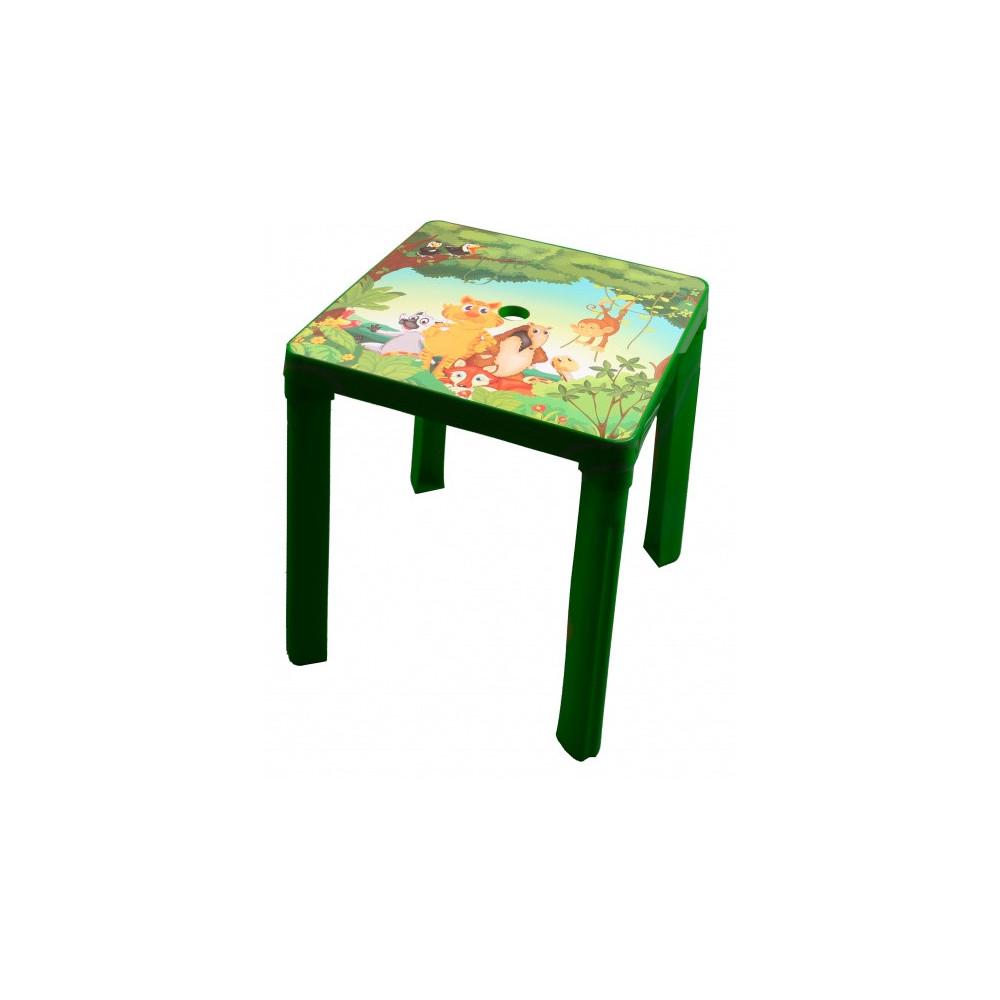 Kindertafel Jungle 46 Cm Groen