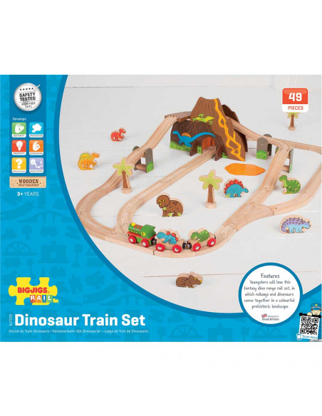 BigJigs houten Treinset Dinosaurus