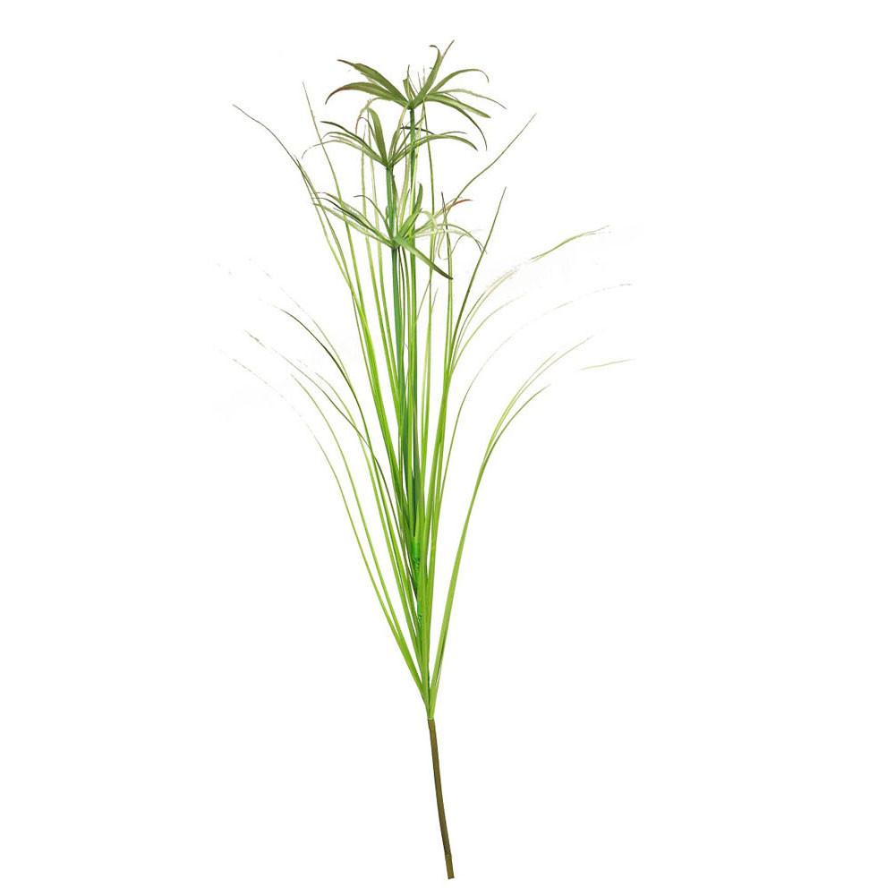 Kunsttak Zijde Papyrus Groen, 120cm