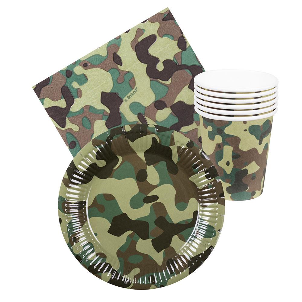 Feestset Camouflage, 24dlg.