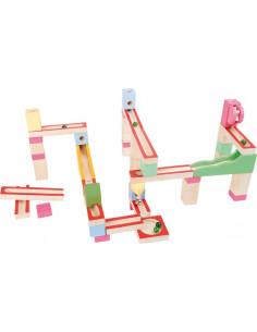 Base Toys Houten knikkerbaan pastel