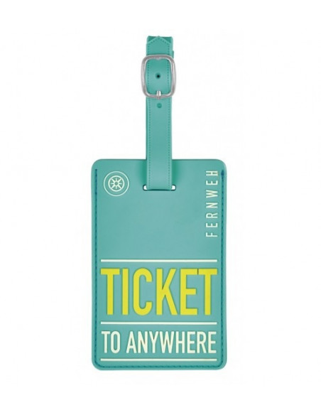 Kofferlabel Ticket To Anywhere11 X 7 Cm Turquoise