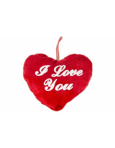 Knuffel Hart I Love You 14cm Rood