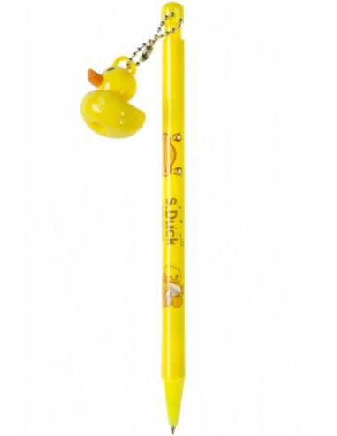 Balpen Eend Geel 16 Cm