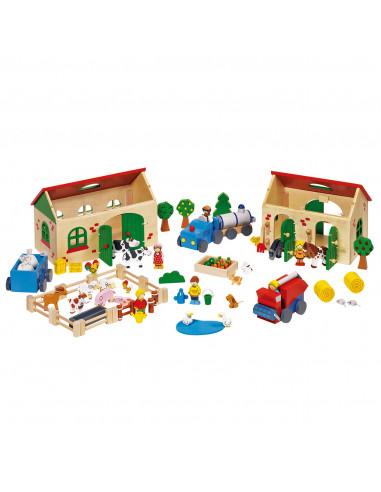 Goki houten Boerderij poppenhuis