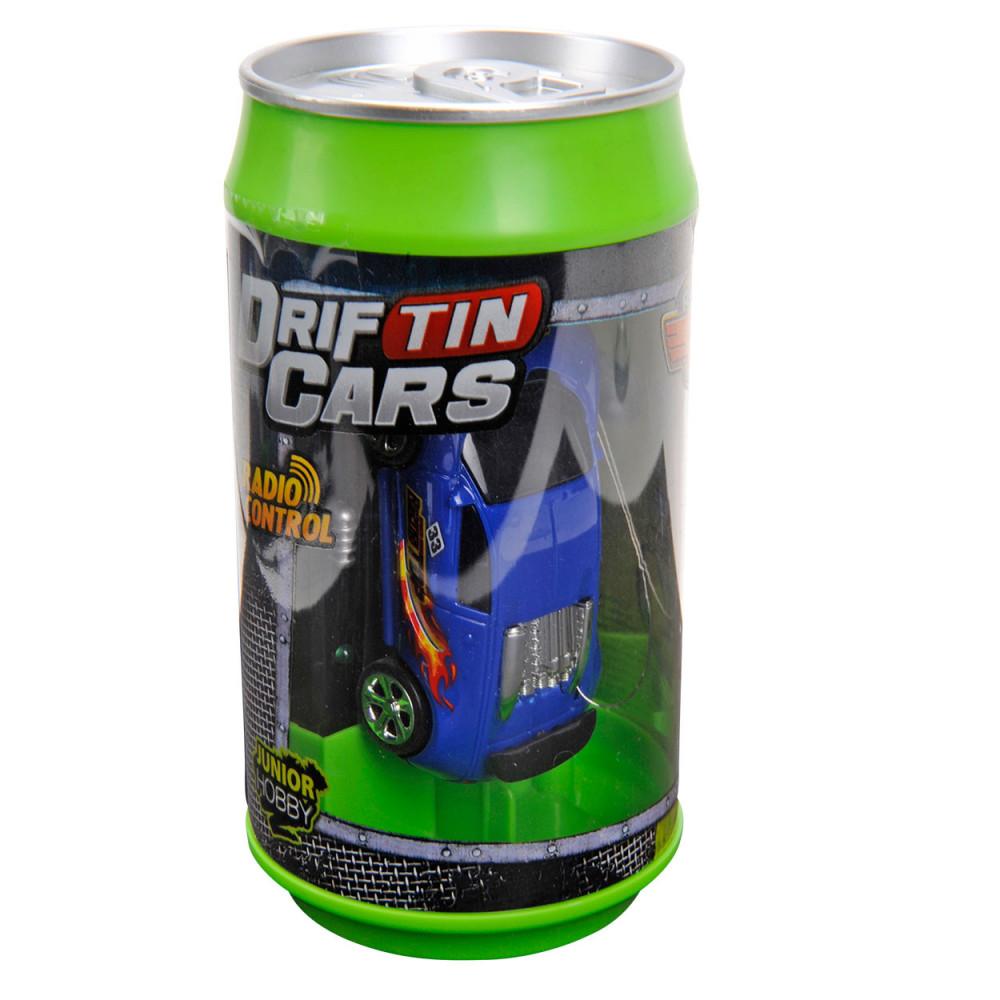 Mini Raceauto in Blik - Blauw