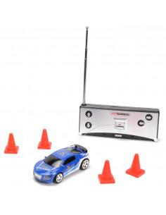 Mini Raceauto in Blik - Blauw/Wit