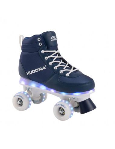 Hudora Rolschaatsen Blauw met LED,...