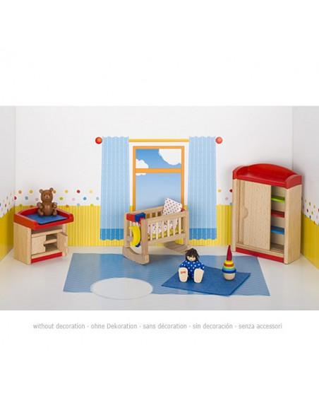 Goki Houten poppenhuis meubel kinderkamer - 12 delig
